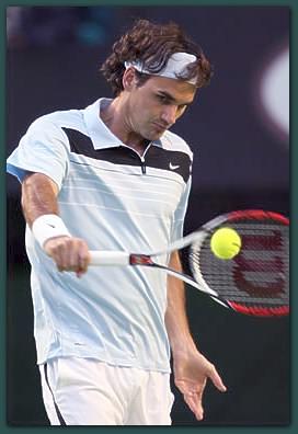 Federer backhand