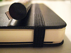 moleskine with pen