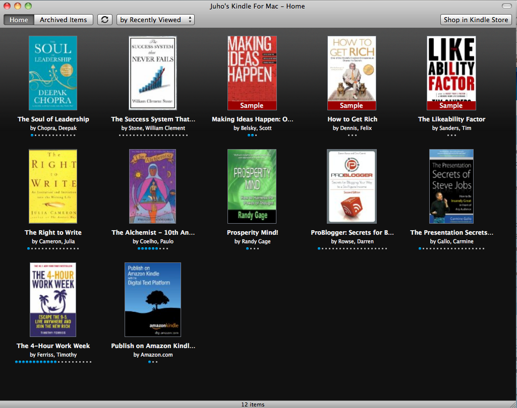 Juhos Kindle for Mac