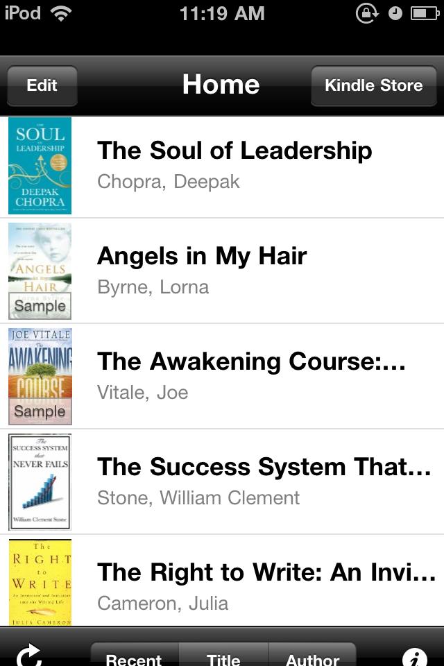 Kindle on the iPod/iPhone
