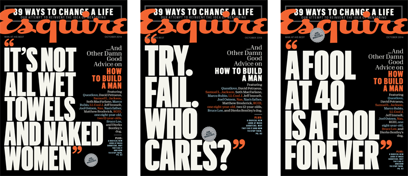 Magazine cover split testing... at newsstands and online alike!